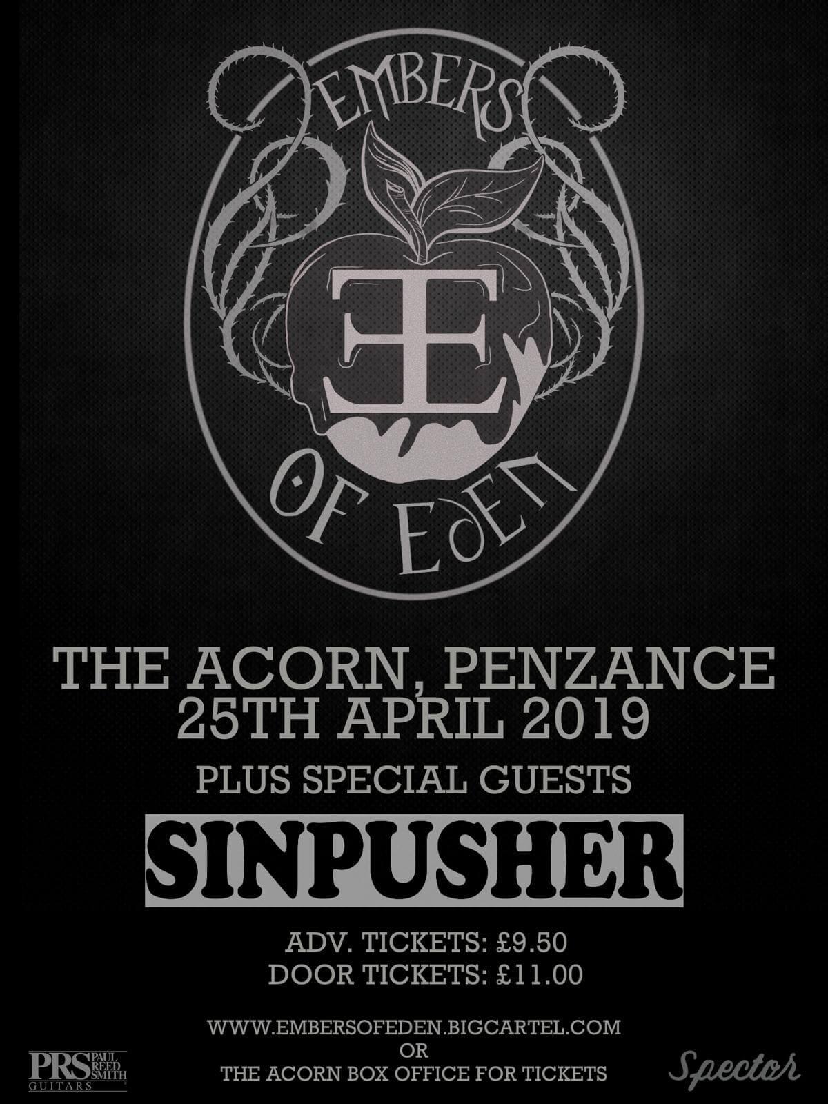 Embers Of Eden + Special Guests Sinpusher